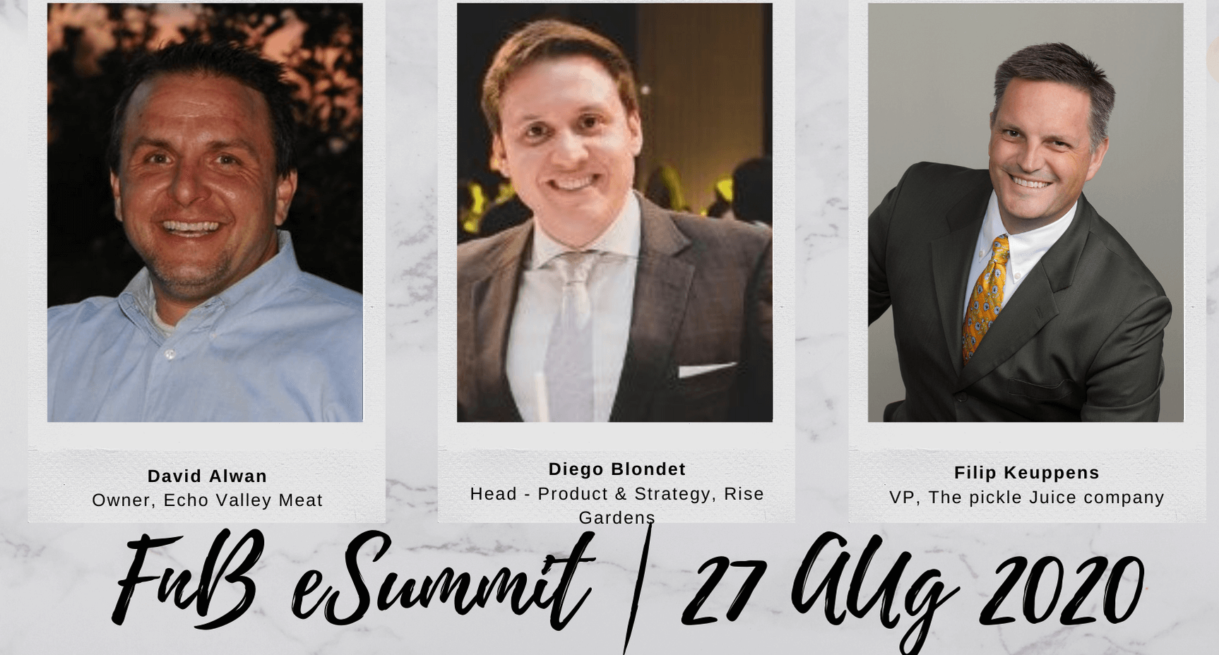 Day 4 – Session 1: F&B e-Summit 2020 (Aug 27th, 2020)