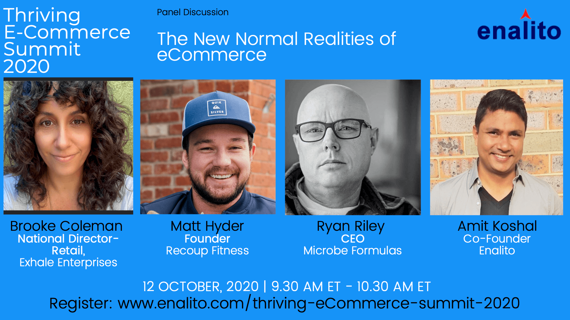 Thriving eCommerce Summit 2020: Day 1 – Session 1 (Oct 12th, 2020)