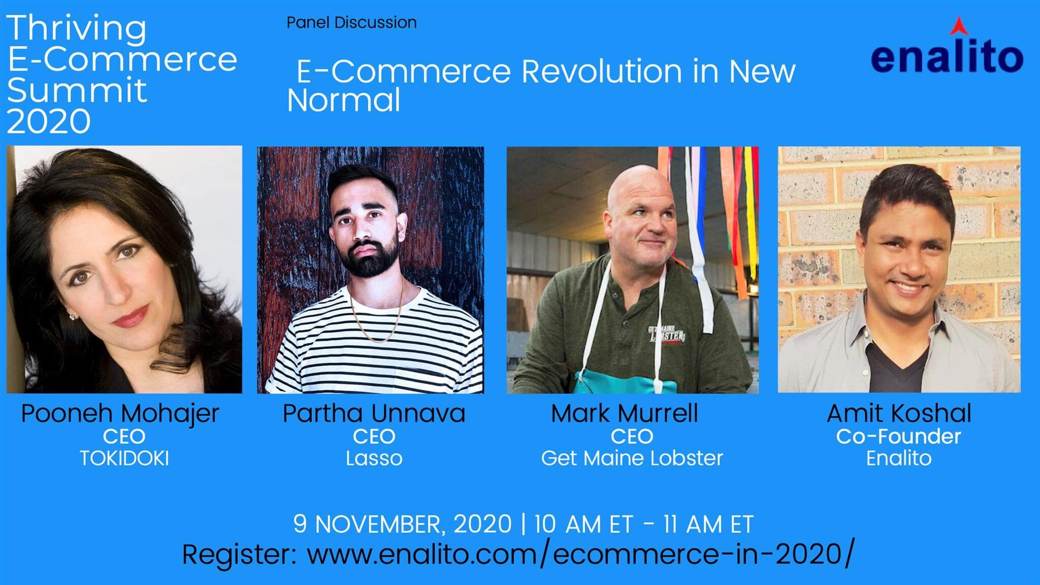 eCommerce In 2020 Summit : Day 1 – Session 1 (Nov 9th, 2020)